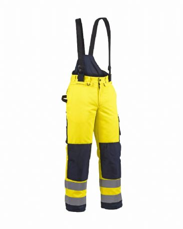 Blaklader 1885 Winter High Vis Trouser Poly Cotton (Yellow/Navy Blue)